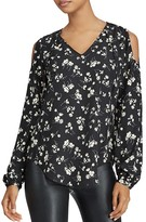 Lauren Ralph Lauren Floral Print Cold Shoulder Top