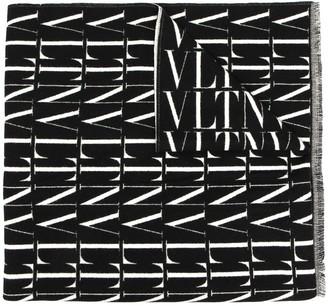 Valentino Logo-Print Scarf