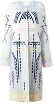 Peter Pilotto geometric coat - women - Polyamide/Spandex/Elastane/Angora/Wool - L
