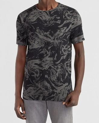 Express Marble Print Moisture-Wicking Performance T-Shirt