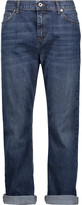 McQ by Alexander McQueen Mid-rise cropped faded boyfriend jeans