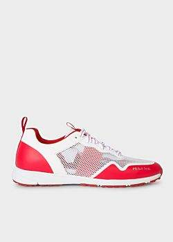 Men's Red and White 'Samui' Trainers