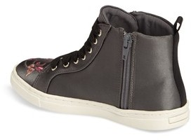 Dolce Vita Girl's Zowen Embroidered High Top Sneaker