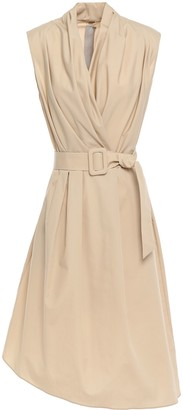 Adam Lippes Belted Wrap-effect Cotton Dress