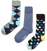 Happy Socks Argyle, Linear and Polka Dots Socks (3 PK)