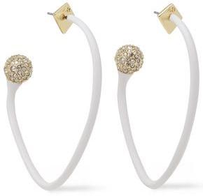 Alexis Bittar Gold-tone, Resin And Crystal Hoop Earrings