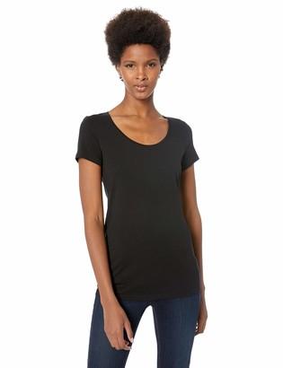 Lark & Ro Amazon Brand Women's Jersey Pima Cotton/Modal Scoop Neck Short Sleeve T-Shirt