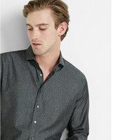 Express Fitted Micro Dot Dress Shirt