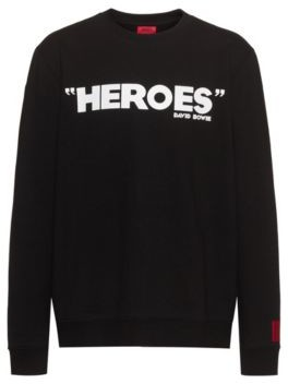 HUGO BOSS French Terry Cotton Sweatshirt With Iconic Print - White