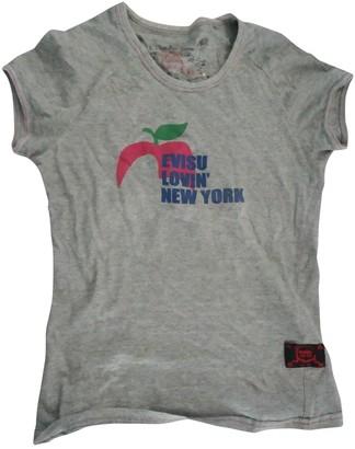 Evisu Grey Cotton Top for Women