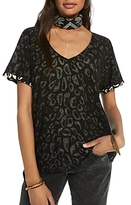 Scotch & Soda Cuffed Leopard Print Tee