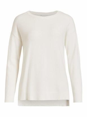 Vila Women's VIRIL HIGH Low L/S Knit TOP-NOOS Sweater