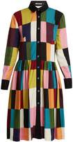 House of Holland Patchwork-print shirtdress