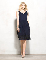 dressbarn Luxe by Carmen Marc Valvo Lace Fit-and-Flare Dress