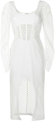 Dion Lee Crochet Lace long-sleeved dress