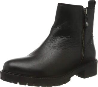 Geox Women's Hoara Leather Ankle Boot Black 40 M EU (10.0 US)