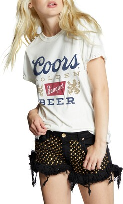 Recycled Karma Coors Roll Up Sleeve Graphic Tee