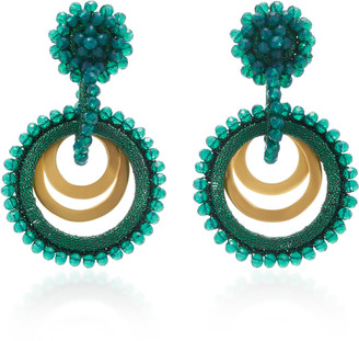 BIBI MARINI Sundrop Gold-Plated, Bead and Silk Earrings