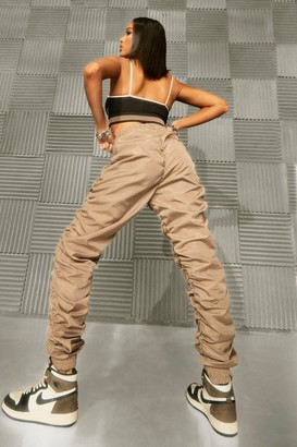 boohoo Ruched Shell Joggers