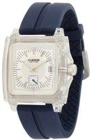 K & Bros Unisex 9405-2 Ice-Time Monaco Square Blue Silicon Watch