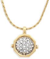 Louise et Cie Goldtone Pave Ball Stud Pendant Necklace