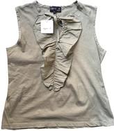 agnès b. Khaki Cotton Top for Women