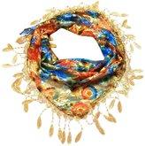TONSEE Women Fashion Tassel Flower Triangle Mantilla Scarf Shawl