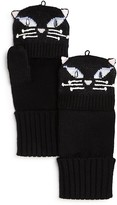 Kate Spade Cat Pop-Top Mittens