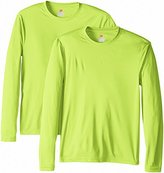 Hanes Men's 2 Pack Long Sleeve Cool Dri T-Shirt UPF 50+