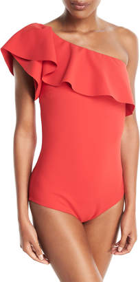 Chiara Boni Eli One-Shoulder Solid One-Piece Swimsuit