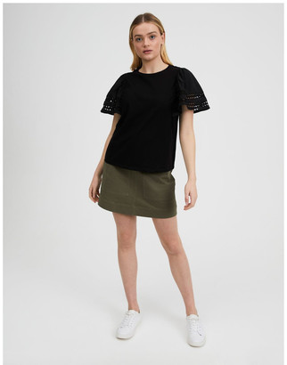 Piper Sleeve Trim Cotton Tee