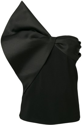 Lanvin Bow Detail Strapless Top