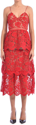 Self-Portrait Lace Dress Red
