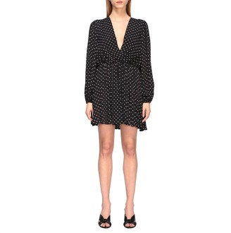 MSGM Short Dress With Polka Dots