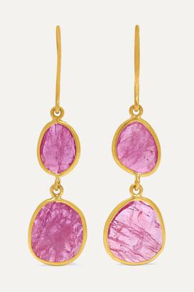Pippa Small 18-karat Gold Ruby Earrings - one size