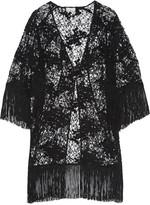 Miguelina Simone fringed cotton-lace kimono