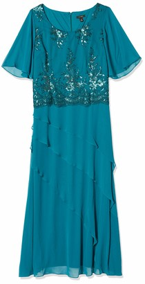 Le Bos Women's Tiered Embellished Long Dress