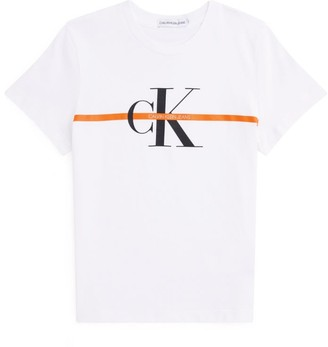 Calvin Klein Kids Monogram Stripe T-Shirt (4-16 Years)