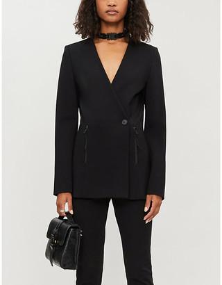 Alyx Single-breasted buckle-tab stretch-jersey blazer