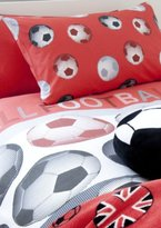 Catherine Lansfield Kids Football Single Duvet Set - Red