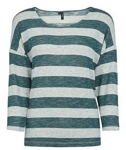Dorothy Perkins Womens Vero Moda Multicolour Mint Stripe Top
