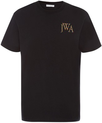 J.W.Anderson Embroidered Rainbow Logo T-Shirt
