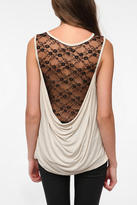 Lace Cowl Back Tank Top