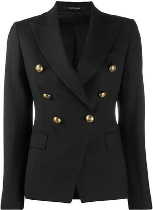 Tagliatore Alicya embossed button blazer