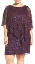 Pisarro Nights Plus Size Women's Embellished Popover Cocktail Dress