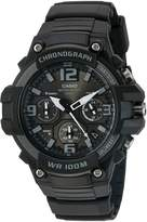 Casio Men's 'Heavy Duty Chronograph' Quartz Stainless Steel and Resin Automatic Watch, Color: (Model: MCW-100H-1A3VCF)