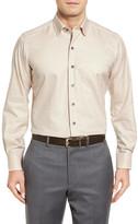 David Donahue Tattersall Regular Fit Sport Shirt