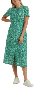 Lucky Brand Penelope Floral-Print Pleated Dress