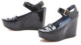 Marc by Marc Jacobs Carpaint Metallic Wedge Sandals