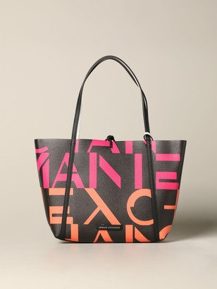 Armani Collezioni Armani Exchange Tote Bags Armani Exchange Reversible Shopping Bag In Synthetic Leather